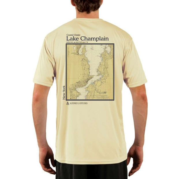 Coastal Classics Lake Champlain Mens Upf 5+ Uv/sun Protection Performance T-Shirt Pale Yellow / X-Small Shirt