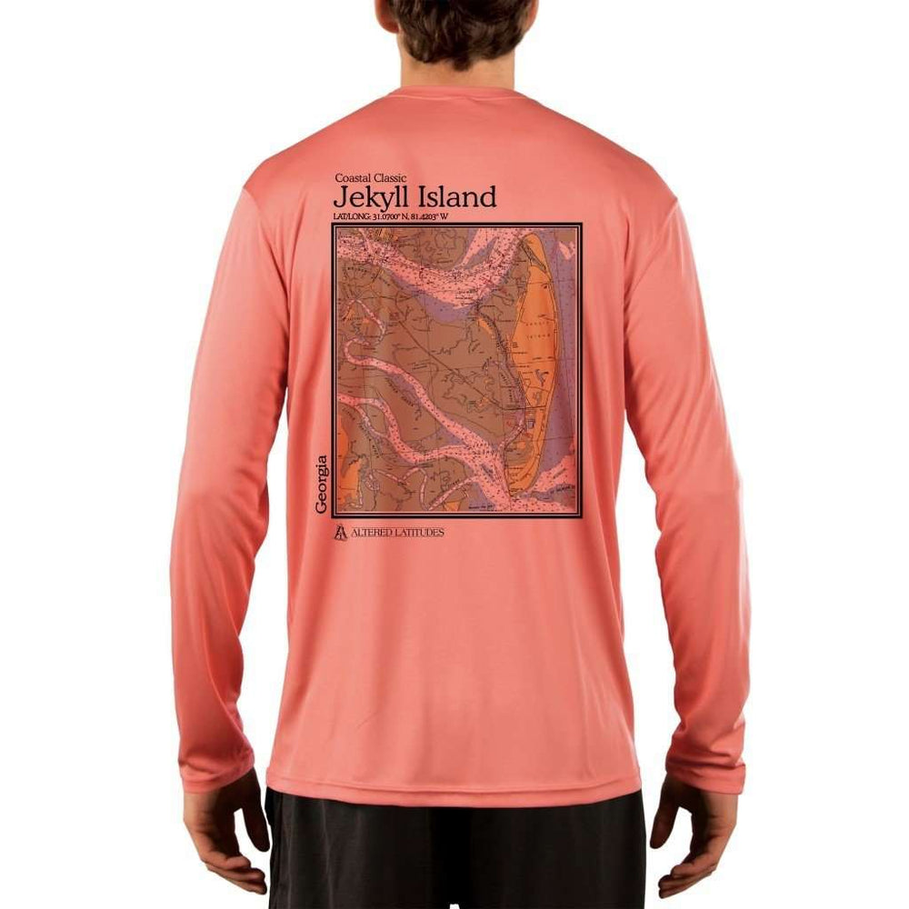 Coastal Classics Jekyll Island Mens Upf 5+ Uv/sun Protection Performance T-Shirt Salmon / X-Small Shirt
