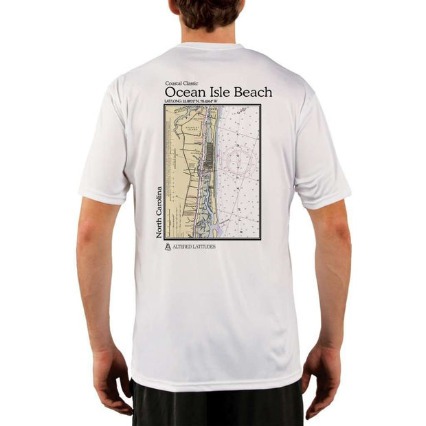 Coastal Classics Ocean Isle Beach Mens Upf 5+ Uv/sun Protection Performance T-Shirt White / X-Small Shirt