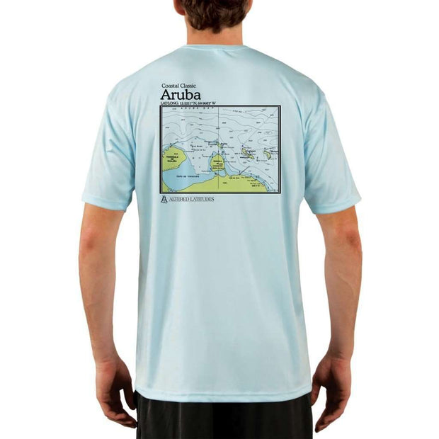 Coastal Classics Aruba Mens Upf 5+ Uv/sun Protection Performance T-Shirt Arctic Blue / X-Small Shirt