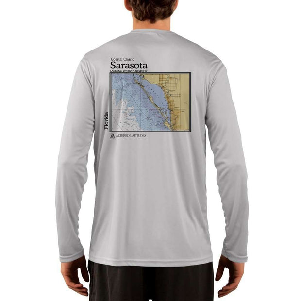Coastal Classics Sarasota Mens Upf 5+ Uv/sun Protection Performance T-Shirt Pearl Grey / X-Small Shirt