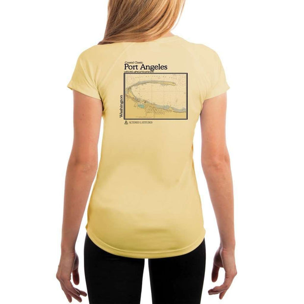 Coastal Classics Port Angeles Womens Upf 5+ Uv/sun Protection Performance T-Shirt Pale Yellow / X-Small Shirt