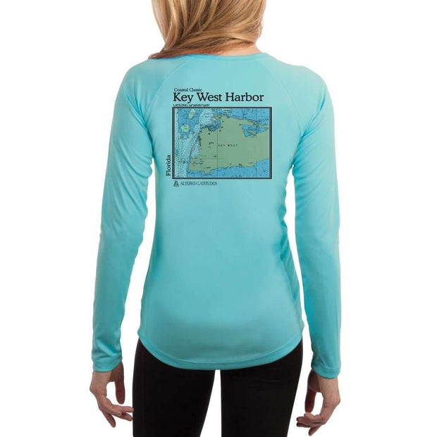 Coastal Classics Key West Harbor Womens Upf 5+ Uv/sun Protection Performance T-Shirt Water Blue / X-Small Shirt