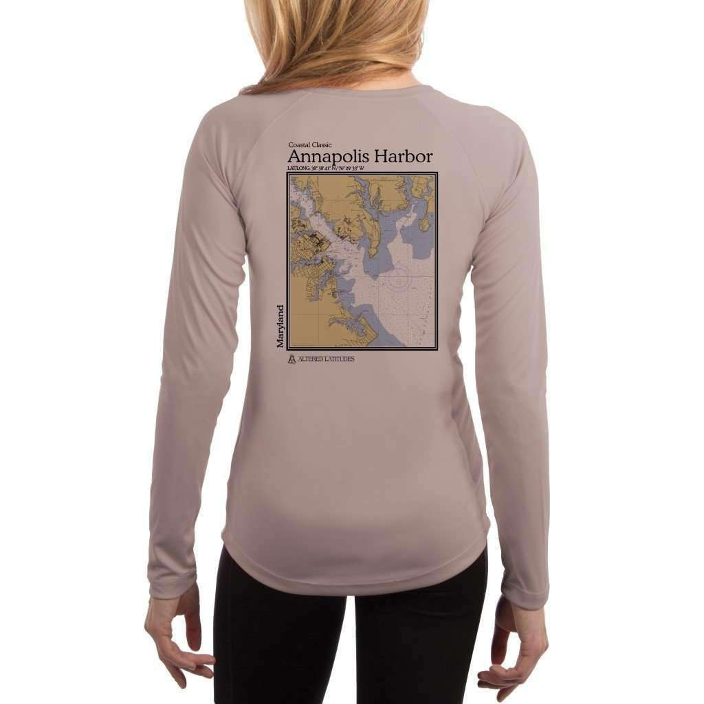 Coastal Classics Annapolis Harbor Women's UPF 50+ UV/Sun Protection Performance T-shirt - Altered Latitudes