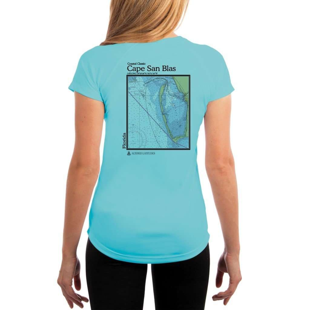 Coastal Classics Cape San Blas Womens Upf 50+ Uv/sun Protection Performance T-Shirt Water Blue / X-Small Shirt