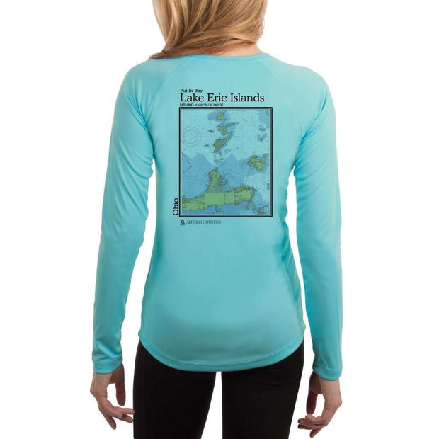 Coastal Classics Lake Erie Islands Women's UPF 50+ UV/Sun Protection Performance T-shirt - Altered Latitudes