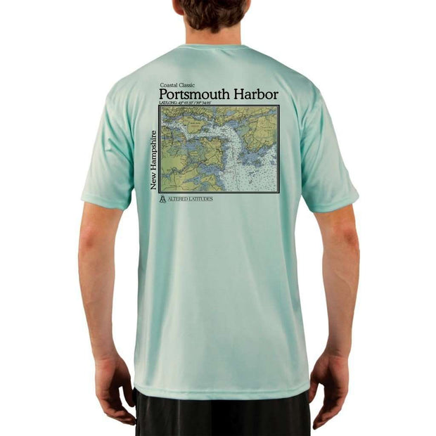 Coastal Classics Portsmouth Harbor Mens Upf 5+ Uv/sun Protection Performance T-Shirt Seagrass / X-Small Shirt