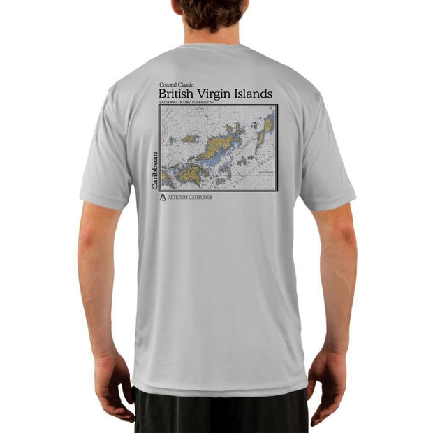 Coastal Classics British Virgin Islands Mens Upf 5+ Uv/sun Protection Performance T-Shirt Pearl Grey / X-Small Shirt