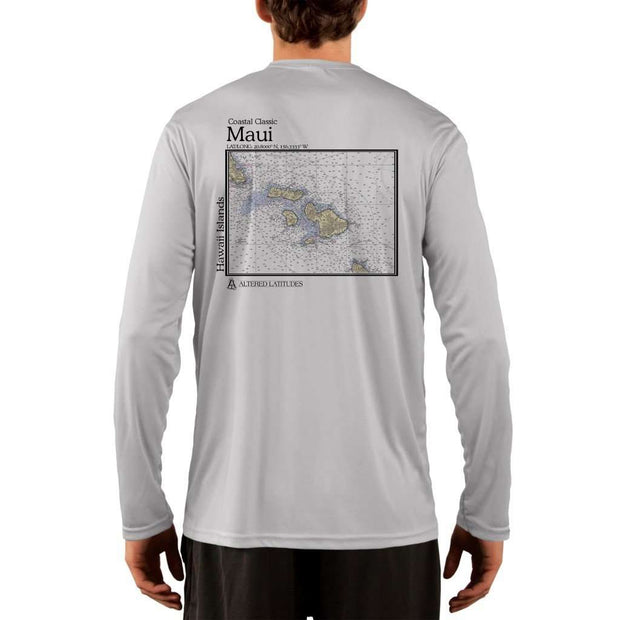 Coastal Classics Maui Mens Upf 5+ Uv/sun Protection Performance T-Shirt Pearl Grey / X-Small Shirt