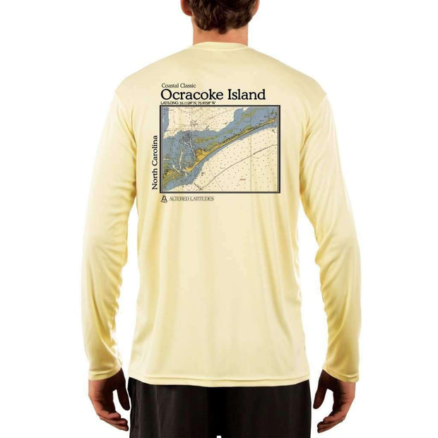 Coastal Classics Ocracoke Island Mens Upf 5+ Uv/sun Protection Performance T-Shirt Pale Yellow / X-Small Shirt