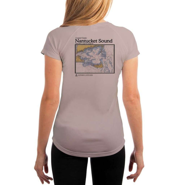 Coastal Classics Nantucket Sound Womens Upf 5+ Uv/sun Protection Performance T-Shirt Athletic Grey / X-Small Shirt
