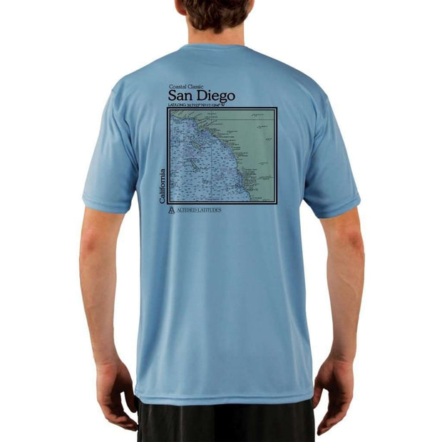 Coastal Classics San Diego Mens Upf 5+ Uv/sun Protection Performance T-Shirt Columbia Blue / X-Small Shirt