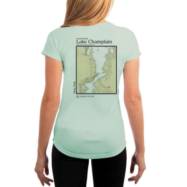 Coastal Classics Lake Champlain Womens Upf 5+ Uv/sun Protection Performance T-Shirt Seagrass / X-Small Shirt