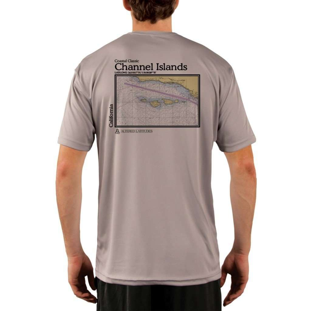 Coastal Classics Channel Islands Mens Upf 50+ Uv/sun Protection Performance T-Shirt Athletic Grey / X-Small Shirt