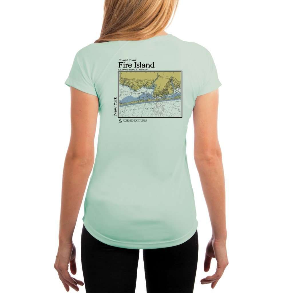 Coastal Classics Fire Island Womens Upf 50+ Uv/sun Protection Performance T-Shirt Seagrass / X-Small Shirt