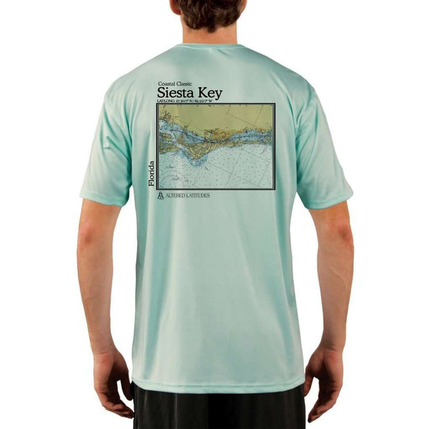 Coastal Classics Siesta Key Mens Upf 5+ Uv/sun Protection Performance T-Shirt Seagrass / X-Small Shirt