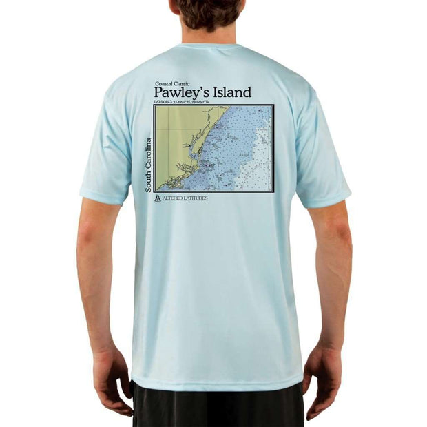 Coastal Classics Pawleys Island Mens Upf 5+ Uv/sun Protection Performance T-Shirt Arctic Blue / X-Small Shirt