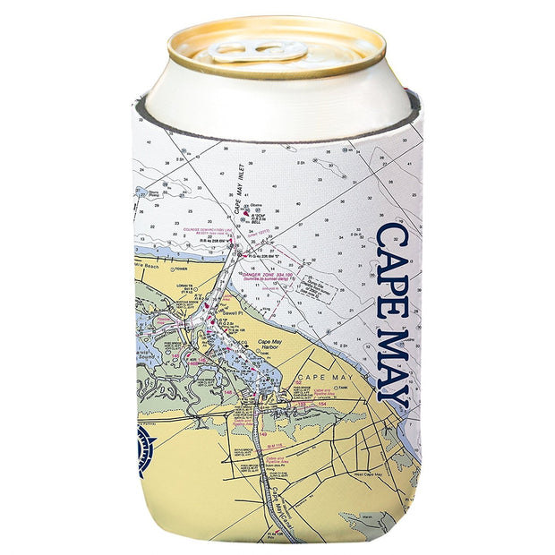 Altered Latitudes Cape May, NJ Chart Standard Can Cooler (4-Pack)