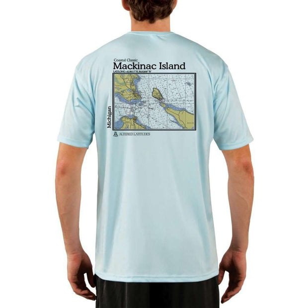 Coastal Classics Mackinac Island Mens Upf 5+ Uv/sun Protection Performance T-Shirt Arctic Blue / X-Small Shirt
