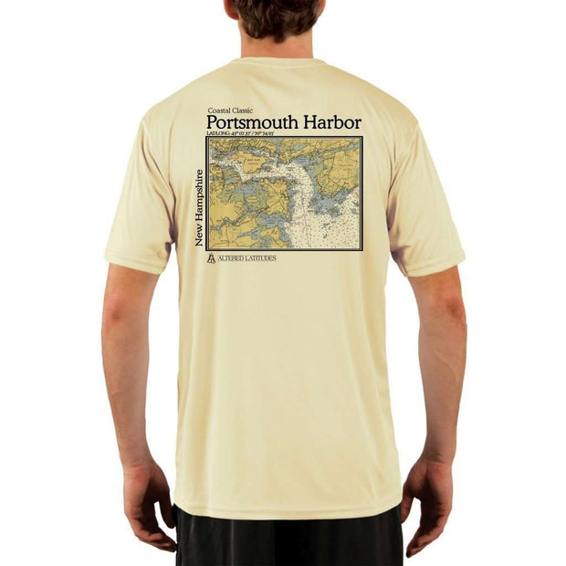 Coastal Classics Portsmouth Harbor Mens Upf 5+ Uv/sun Protection Performance T-Shirt Pale Yellow / X-Small Shirt