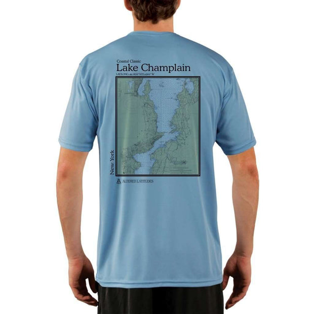 Coastal Classics Lake Champlain Mens Upf 5+ Uv/sun Protection Performance T-Shirt Columbia Blue / X-Small Shirt