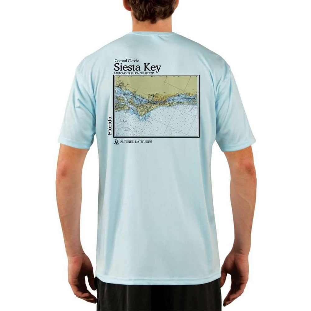Coastal Classics Siesta Key Mens Upf 5+ Uv/sun Protection Performance T-Shirt Arctic Blue / X-Small Shirt