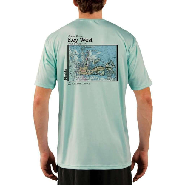 Coastal Classics Key West Mens Upf 5+ Uv/sun Protection Performance T-Shirt Seagrass / X-Small Shirt