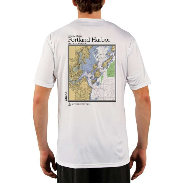 Coastal Classics Portland Harbor Mens Upf 5+ Uv/sun Protection Performance T-Shirt White / X-Small Shirt