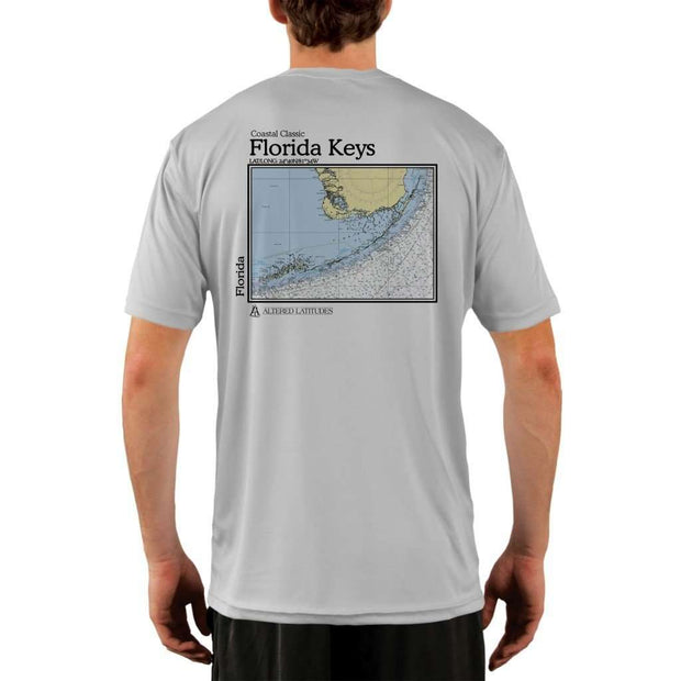 Coastal Classics Florida Keys Mens Upf 5+ Uv/sun Protection Performance T-Shirt Pearl Grey / X-Small Shirt