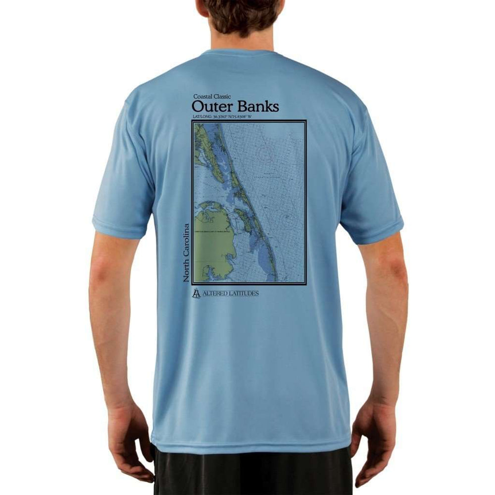 Coastal Classics Outer Banks Mens Upf 5+ Uv/sun Protection Performance T-Shirt Columbia Blue / X-Small Shirt