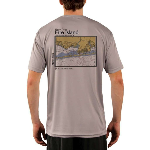 Coastal Classics Fire Island Mens Upf 5+ Uv/sun Protection Performance T-Shirt Athletic Grey / X-Small Shirt