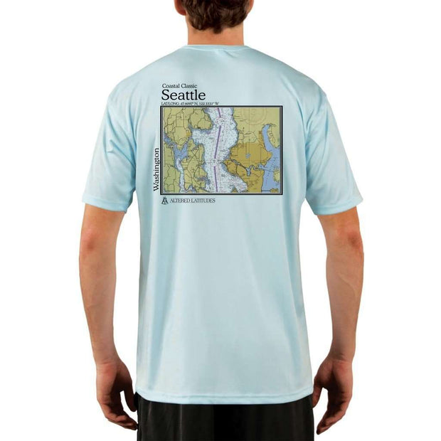 Coastal Classics Seattle Mens Upf 5+ Uv/sun Protection Performance T-Shirt Arctic Blue / X-Small Shirt