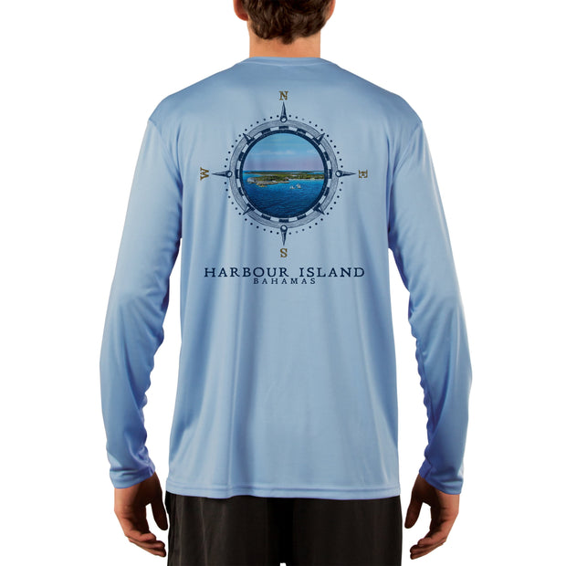 Compass Vintage Harbour Island Men's UPF 50+ Long Sleeve T-Shirt