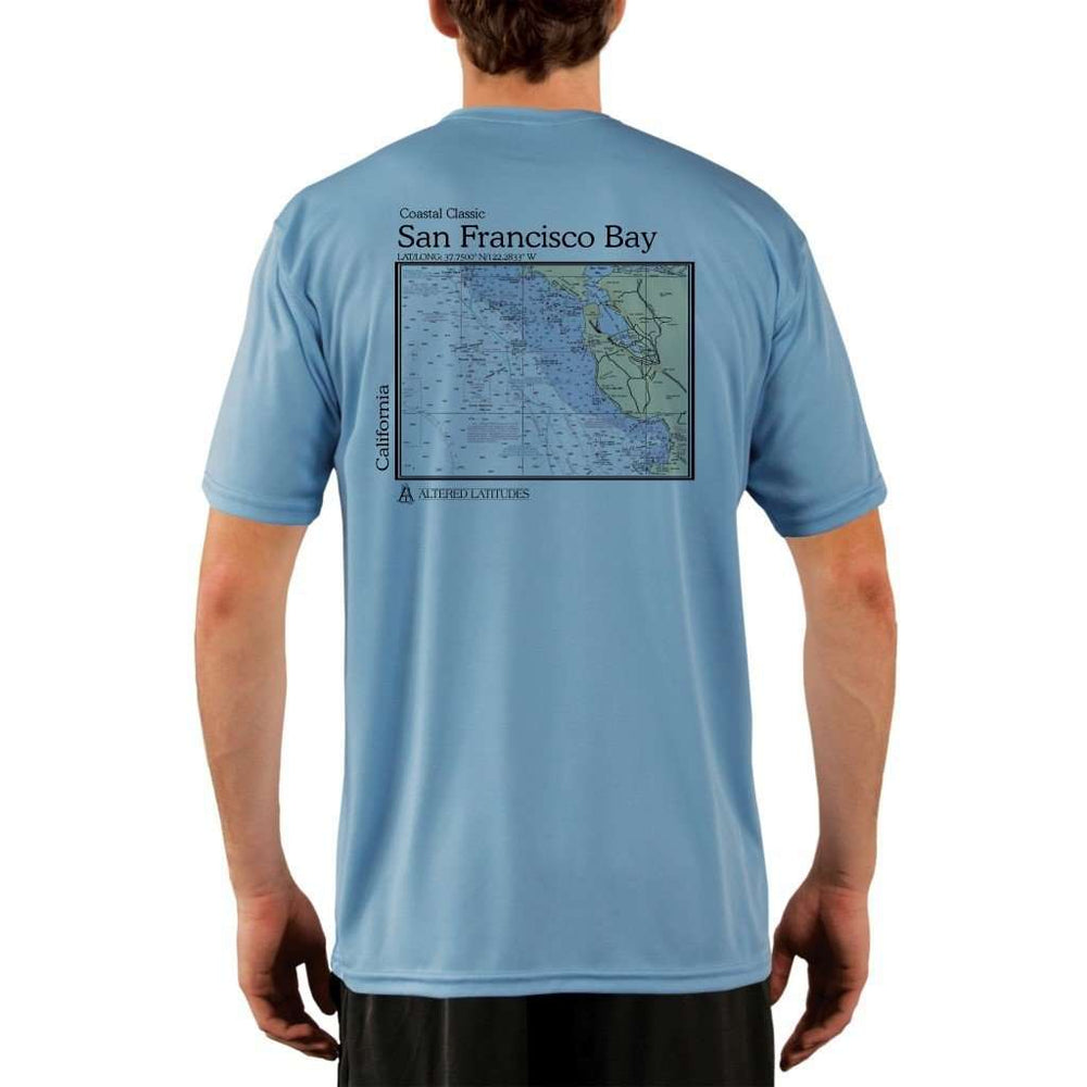 Coastal Classics San Francisco Bay Mens Upf 5+ Uv/sun Protection Performance T-Shirt Columbia Blue / X-Small Shirt