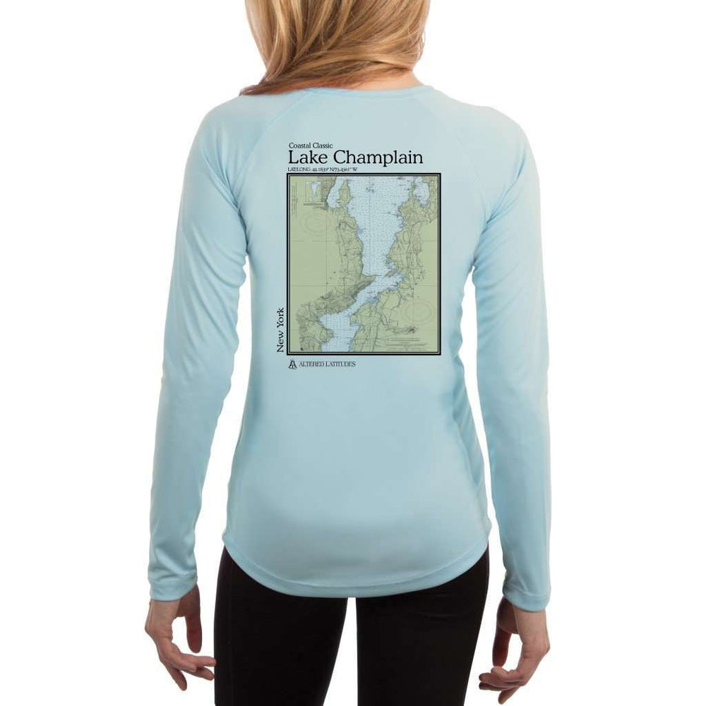 Coastal Classics Lake Champlain Womens Upf 5+ Uv/sun Protection Performance T-Shirt Arctic Blue / X-Small Shirt