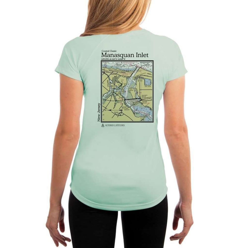 Coastal Classics Manasquan Inlet Womens Upf 5+ Uv/sun Protection Performance T-Shirt Seagrass / X-Small Shirt