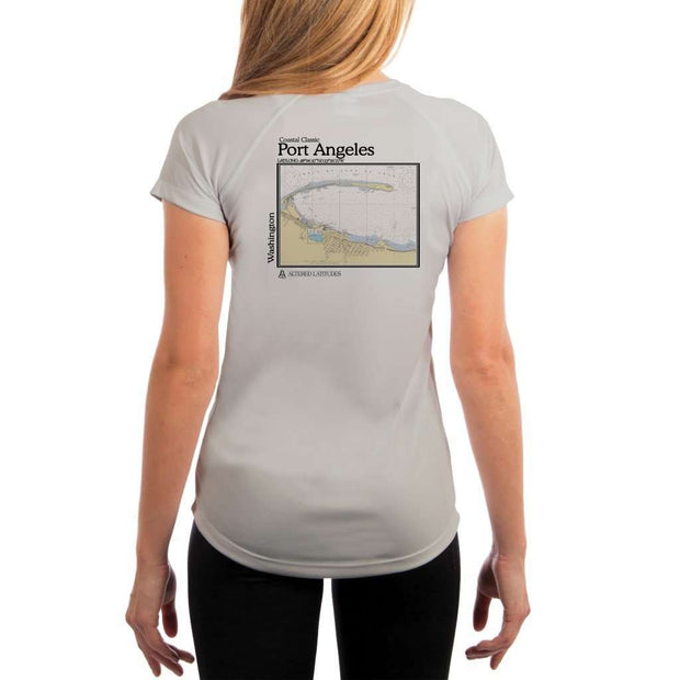 Coastal Classics Port Angeles Womens Upf 5+ Uv/sun Protection Performance T-Shirt Pearl Grey / X-Small Shirt