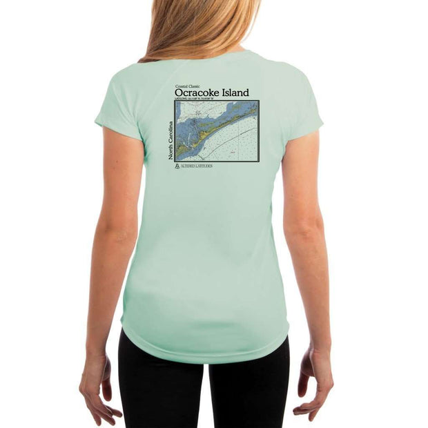 Coastal Classics Ocracoke Island Womens Upf 5+ Uv/sun Protection Performance T-Shirt Seagrass / X-Small Shirt
