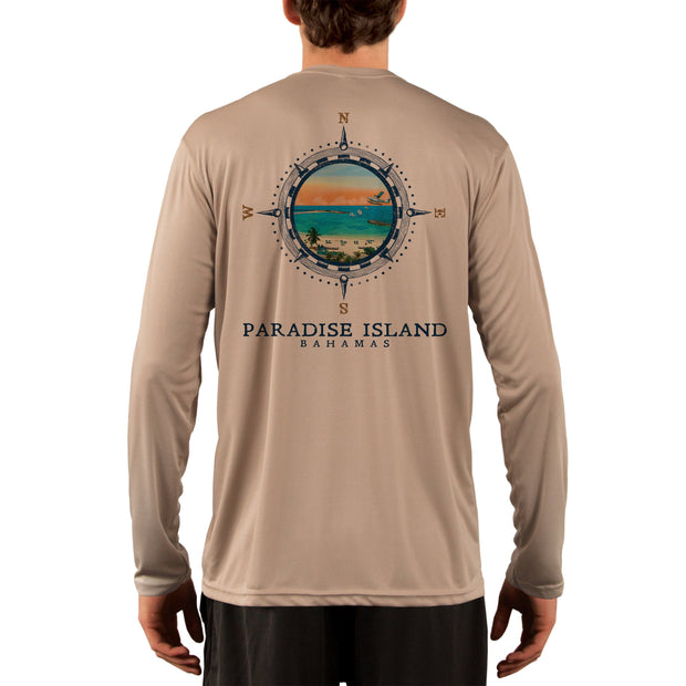 Compass Vintage Paradise Island Men's UPF 50+ Long Sleeve T-Shirt