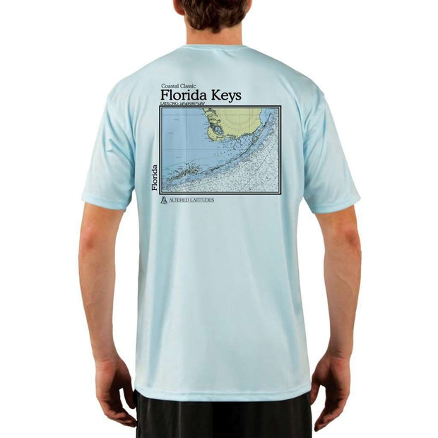 Coastal Classics Florida Keys Mens Upf 5+ Uv/sun Protection Performance T-Shirt Arctic Blue / X-Small Shirt