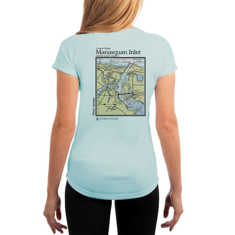 Coastal Classics Manasquan Inlet Womens Upf 5+ Uv/sun Protection Performance T-Shirt Arctic Blue / X-Small Shirt