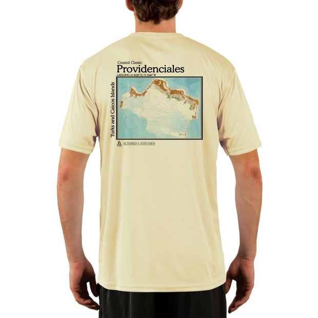Coastal Classics Providenciales Mens Upf 5+ Uv/sun Protection Performance T-Shirt Pale Yellow / X-Small Shirt