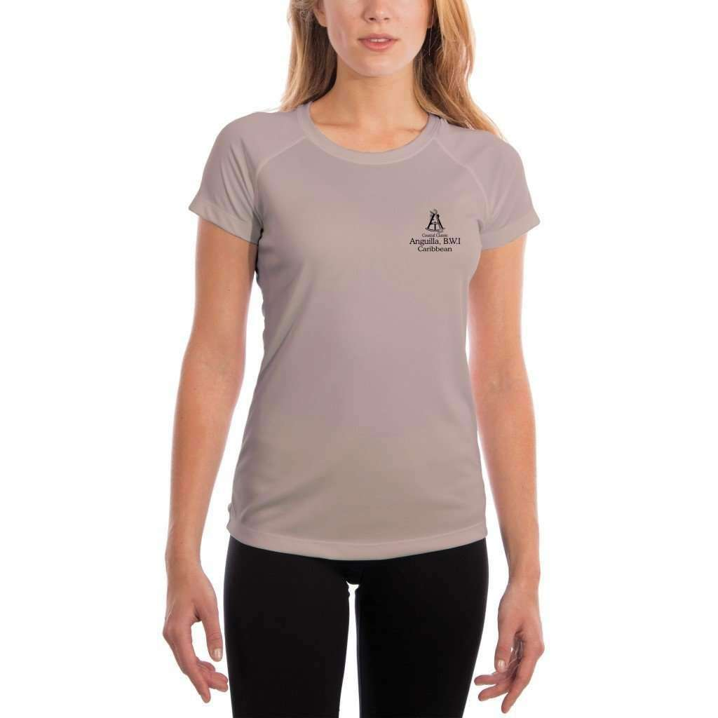 Coastal Classics Anguilla B.w.i. Womens Upf 50+ Uv/sun Protection Performance T-Shirt Shirt