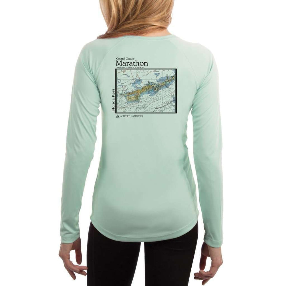 Coastal Classics Marathon Womens Upf 5+ Uv/sun Protection Performance T-Shirt Seagrass / X-Small Shirt