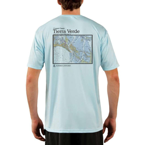 Coastal Classics Tierra Verde Mens Upf 5+ Uv/sun Protection Performance T-Shirt Arctic Blue / X-Small Shirt