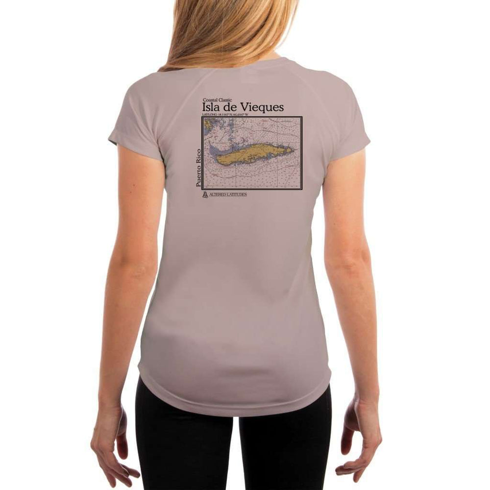 Coastal Classics Isla De Vieques Womens Upf 5+ Uv/sun Protection Performance T-Shirt Athletic Grey / X-Small Shirt