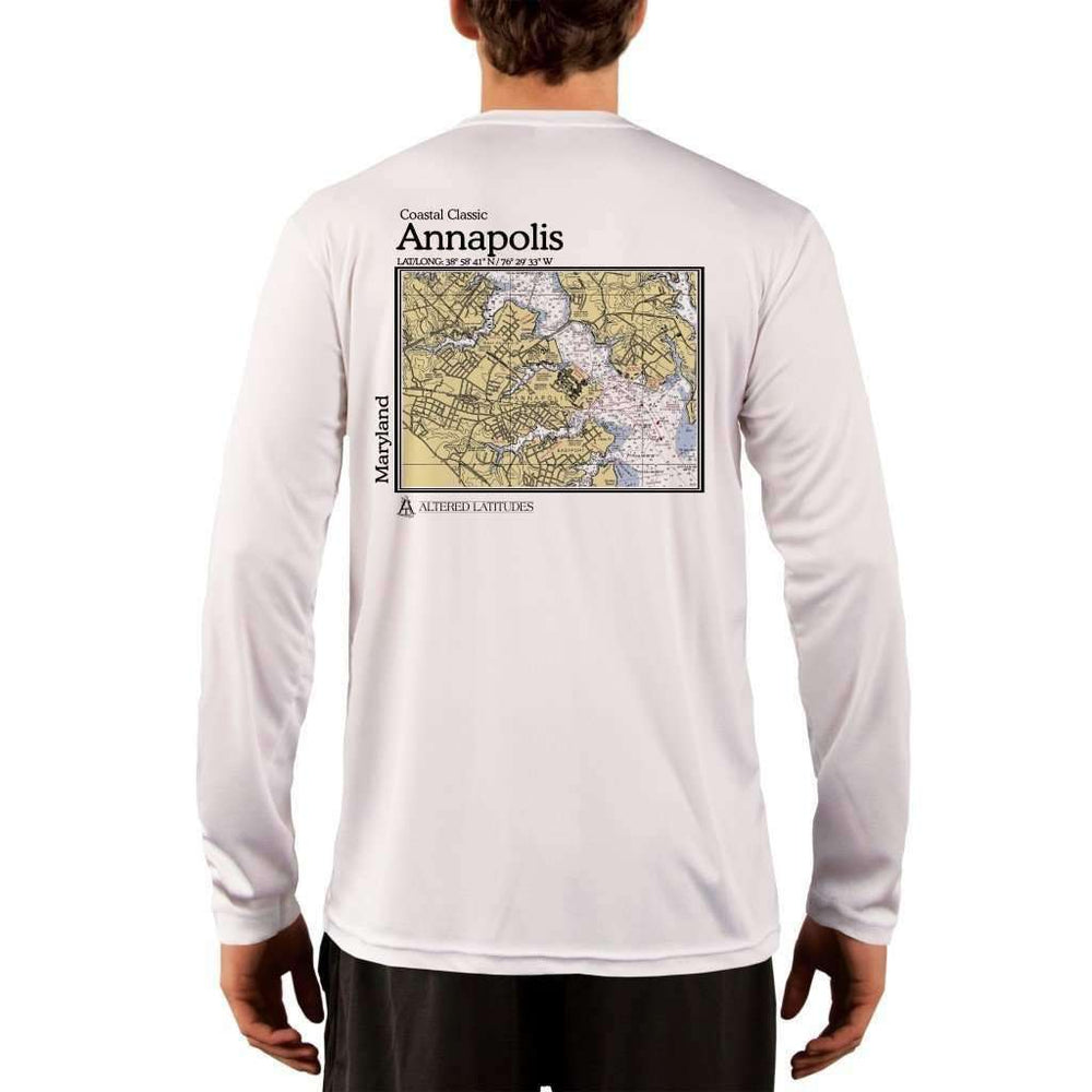Coastal Classics Annapolis Mens Upf 5+ Uv/sun Protection Performance T-Shirt White / X-Small Shirt