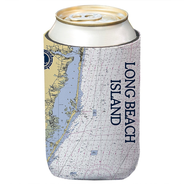 Altered Latitudes Long Beach Island, NJ Chart Standard Can Cooler (4-Pack)