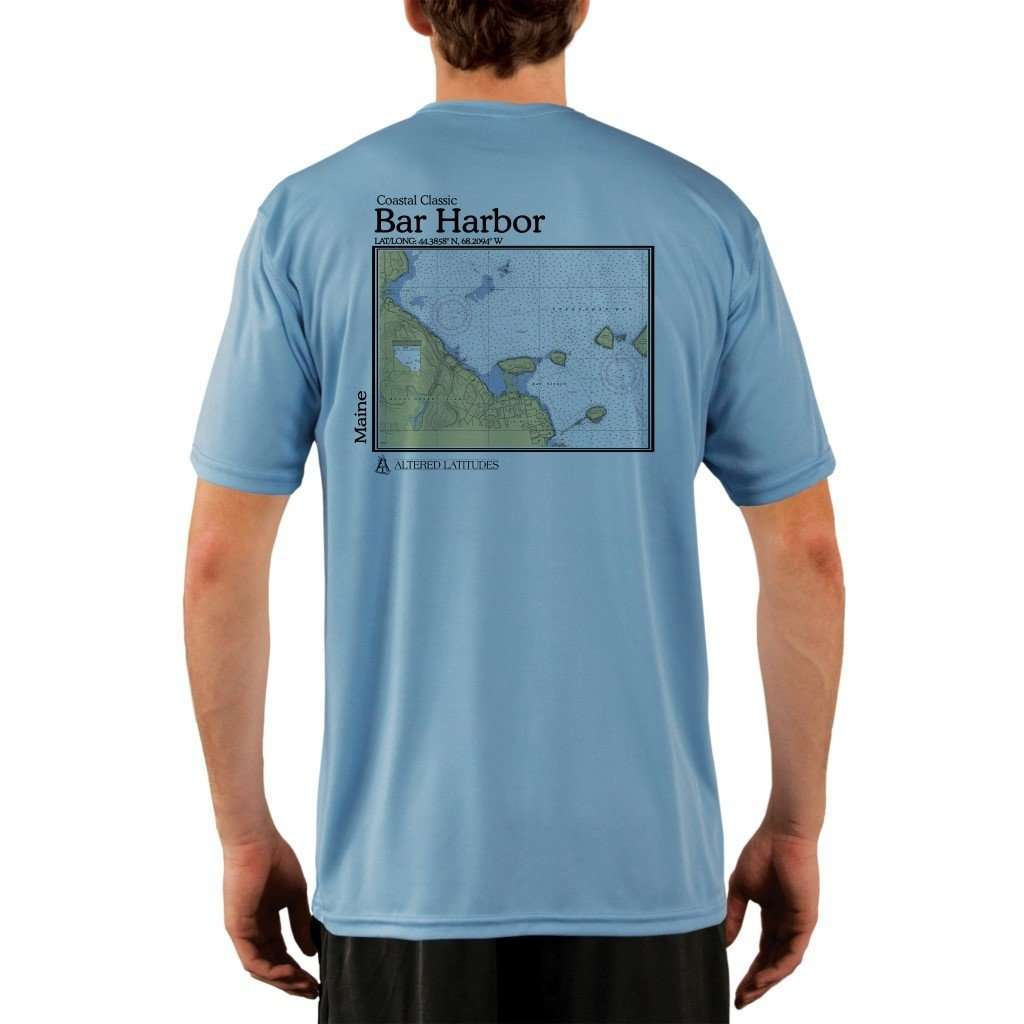 Coastal Classics Bar Harbor Mens Upf 50+ Uv/sun Protection Performance T-Shirt Columbia Blue / X-Small Shirt