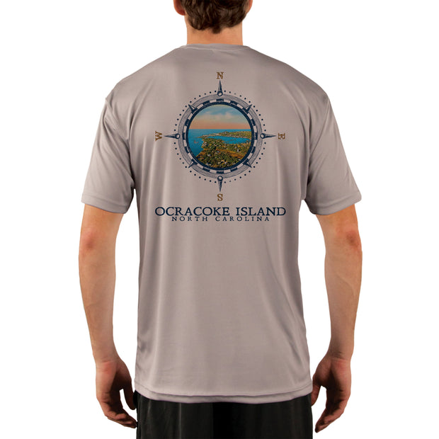 Compass Vintage Ocracoke Island Men's UPF 50+ Short Sleeve T-shirt